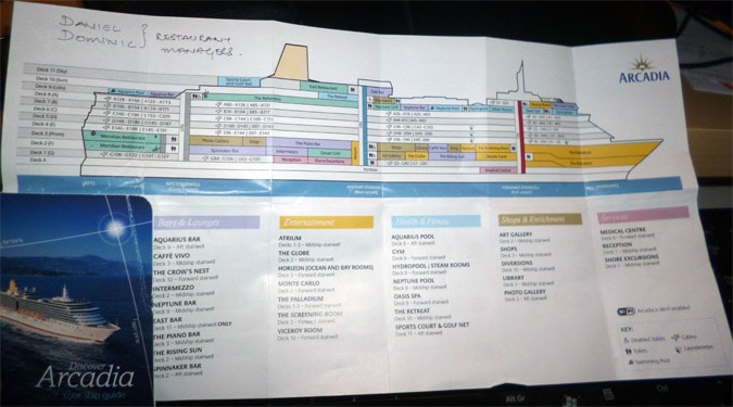 Deck plan map