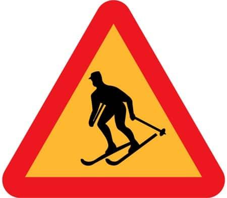 ski signage