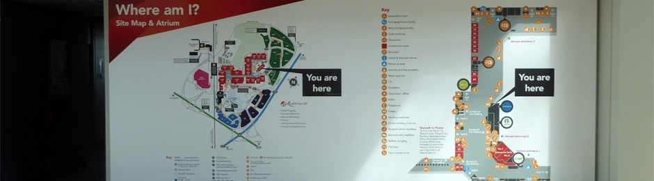 An indoor you are here map