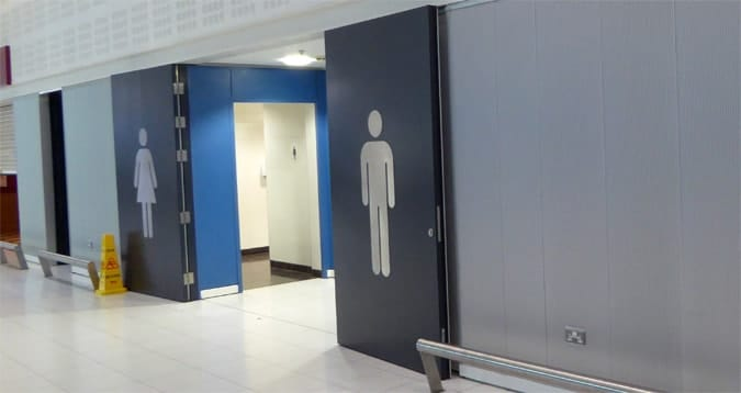 visibile toilet signs