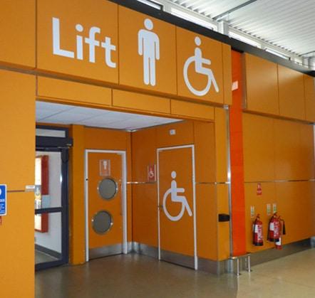 Toilet signage design