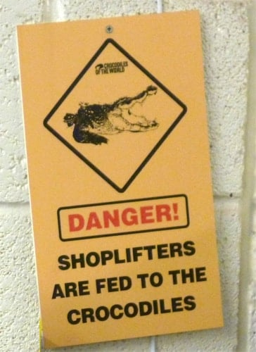 shoplifters sign