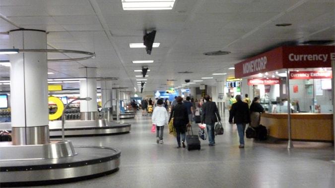 Gatwick arrivals area