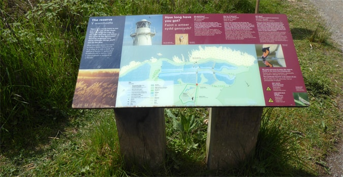 interpretive wetlands sign