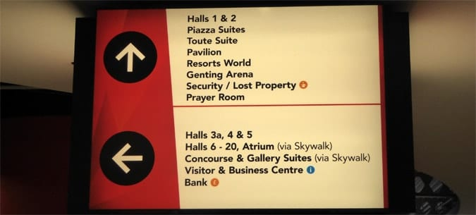 Grouping information on signage