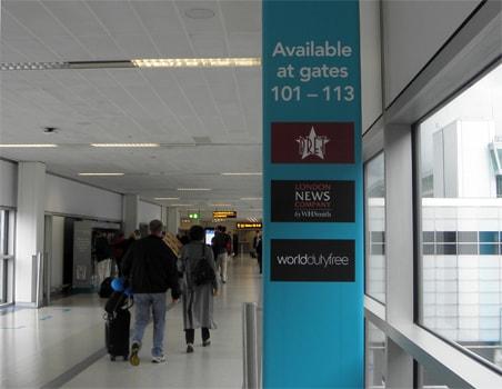 Departures gates facilities information