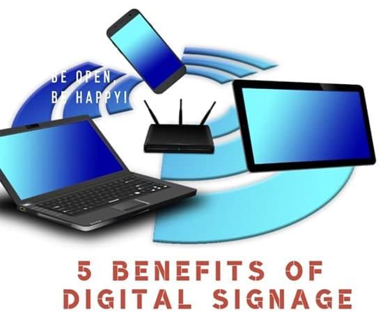 The benefits of digital signage