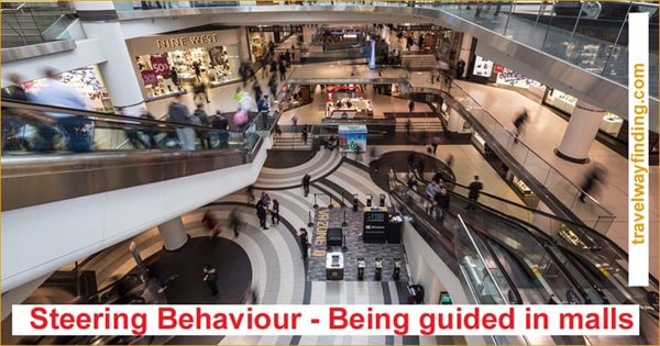 Guiding users to navigate to commercial locations in shopping malls.