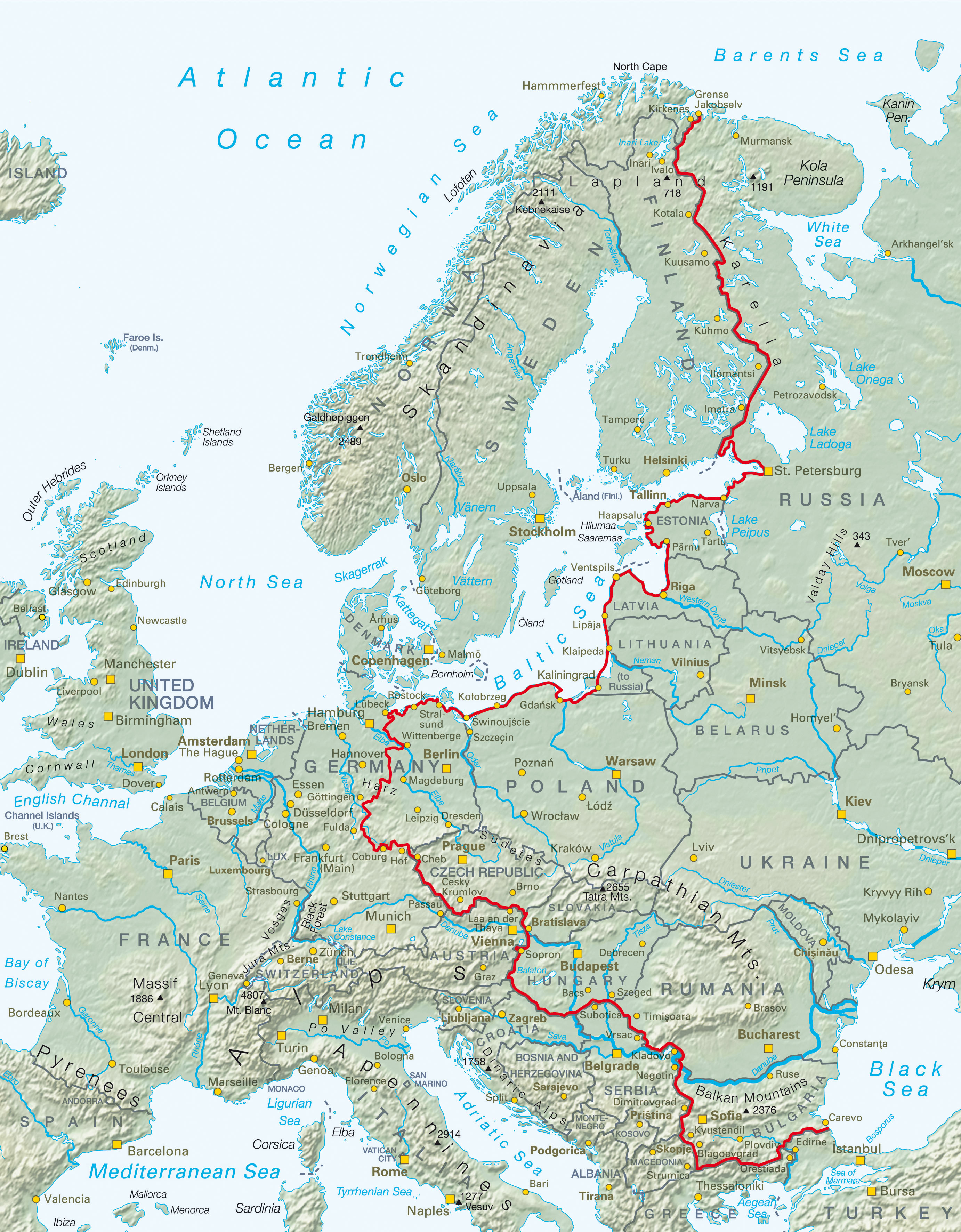 Iron Curtain Bicycle Route Navigating Europe By Bike - Us 36 bike path map