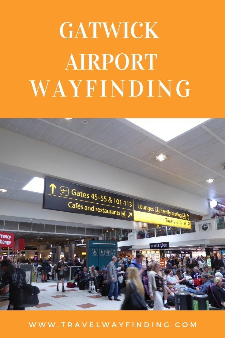 Gatwick airport wayfinding and signage in London, England