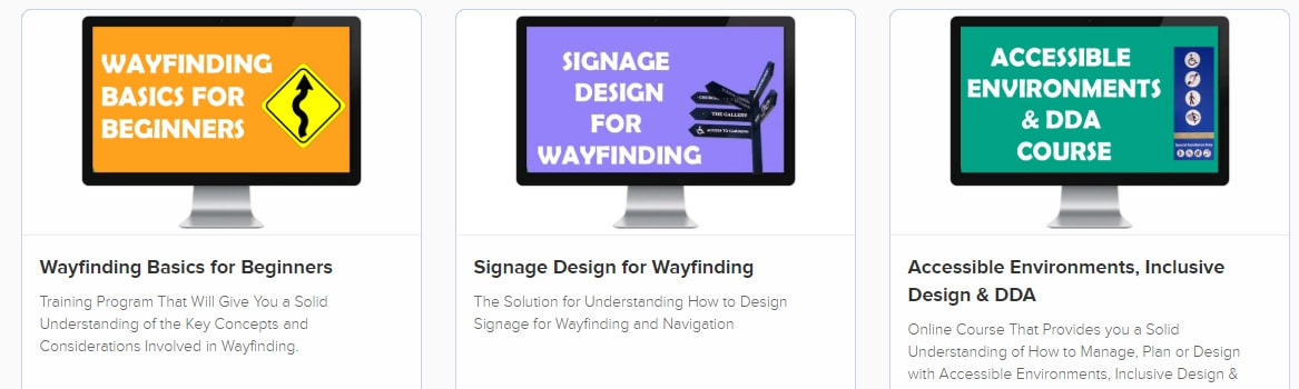 Online wayfinding training courses and dda courses