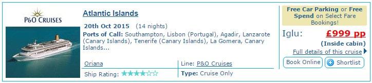 Iglu cruises January fare