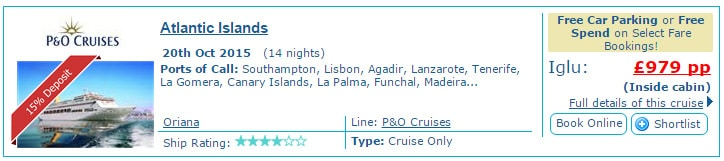 March cruise prices