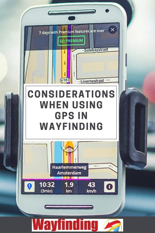 Considerations when using GPS for wayfinding