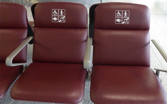 special assistance chairs at gates