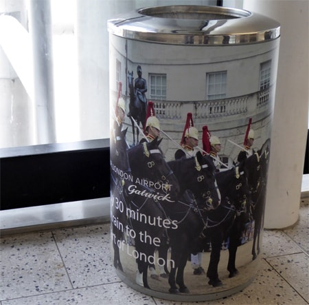 Heritage narrative using a bin