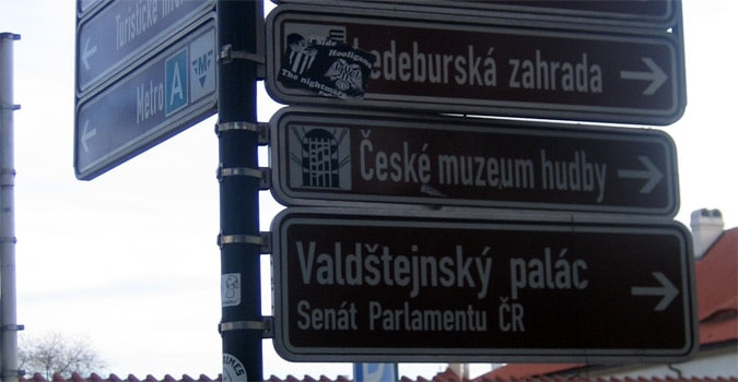 Prague directions for navigating the city