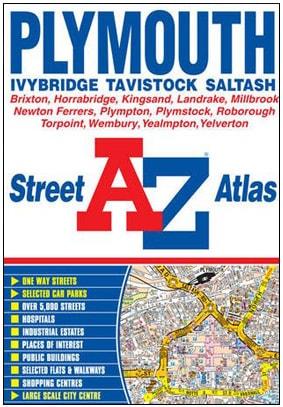 Plymouth Devon A-Z guide map