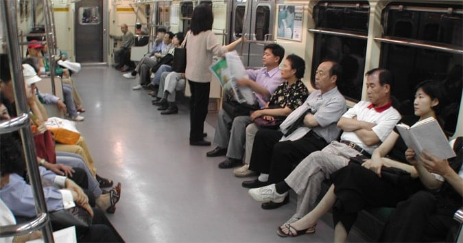 Seoul subway system in South Korea