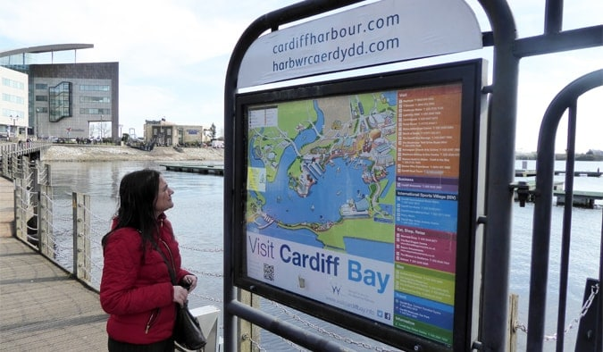 Map of Cardiff Bay