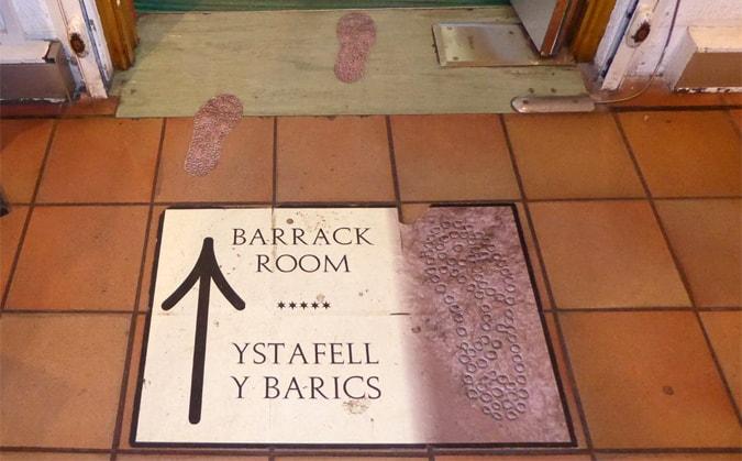 Barrack room signs