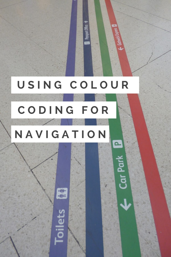 Colour coding for better navigation
