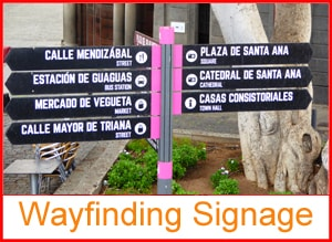 Wayfinding signage sales