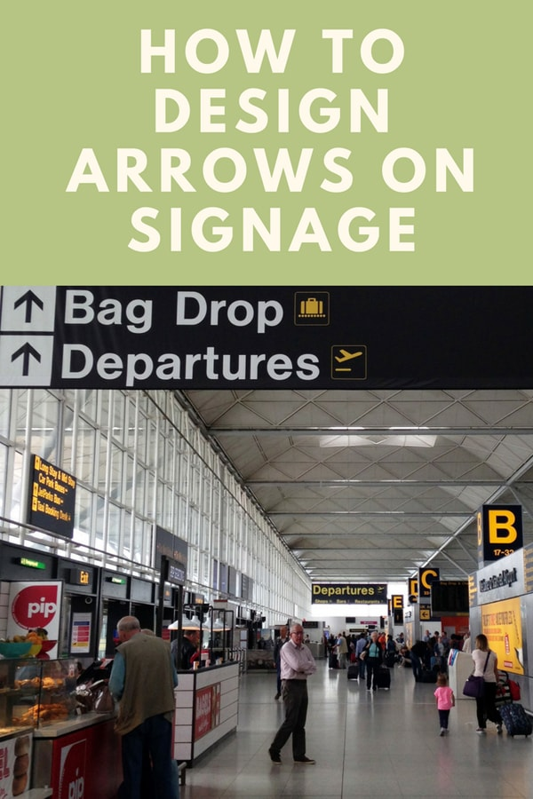 Learning how to design arrows on signage