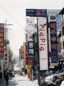 How to a navigation system such as Seoul, South Korea for navigating the city.