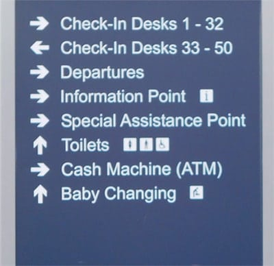 Signage arrows design for good user experience UX