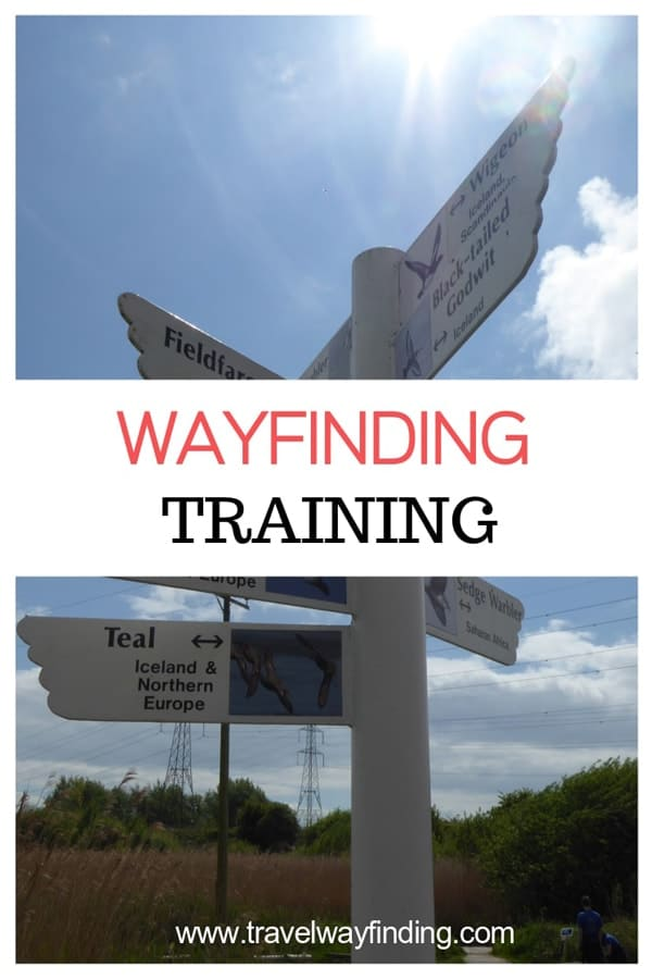 Wayfinding signage design training
